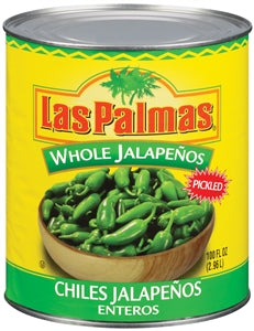 Las Palmas Whole Jalapeno Peppers - 100oz - Pack of 6 Count