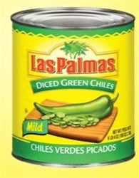 Las Palmas Diced Green Chile - 100oz - Pack of 6 Count