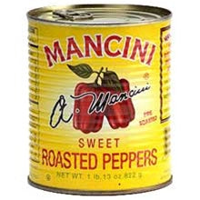Mancini Roasted Red Peppers Strips - 28oz - Pack of 12 Count