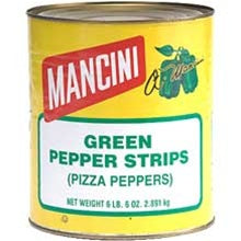 Mancini Green Pepper Strips - 102oz - Pack of 6 Count