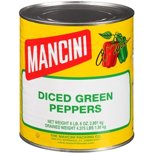 Mancini Diced Green Pepper - 102oz - Pack of 6 Count