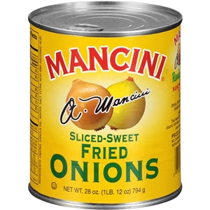 Mancini Fried Sliced Onions - 28oz - Pack of 12 Count