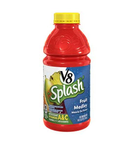 V8 Splash Fruit Medley 16oz. - Pack of 12 Count