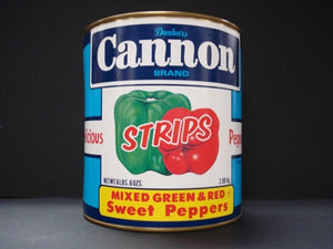 Cannon Mixed Green and Red Pepper Strips - 102oz - Pack of 6 Count