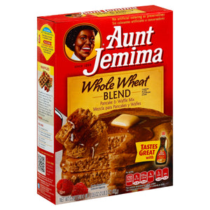 Aunt Jemima Whole Wheat Pancake Mix 35oz. - Pack of 12 Count
