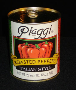 Piaggi Roasted Red Bell Pepper Pieces - 28oz - Pack of 12 Count
