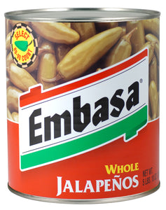 Embasa Whole Escabeche Jalapenos - 92oz - Pack of 6 Count