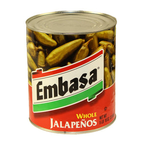 Embasa Whole Jalapenos - 90oz - Pack of 6 Count