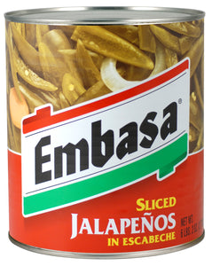 Embasa Sliced Jalapenos in Escabeche - 98oz - Pack of 6 Count