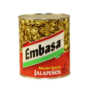 Embasa Nacho Sliced Jalapenos - 98oz - Pack of 6 Count