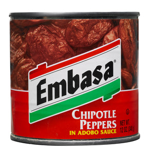 Embasa Chipotle Peppers Adobo Sauce - 12oz - Pack of 12 Count