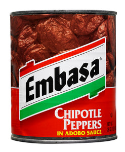 Embasa Chipotle Peppers Adobo Sauce - 26oz - Pack of 12 Count