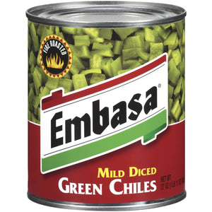 Embasa Mid Diced Green Chiles - 27oz - Pack of 12 Count