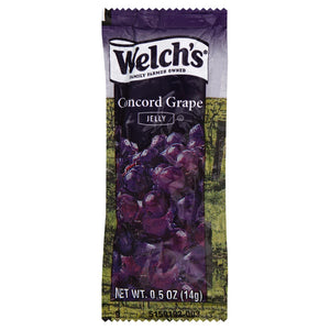 Welch's Portion Pac Grape Jelly Pouch 0.5oz. - Pack of 500 Count