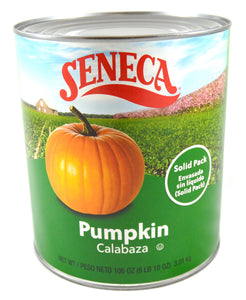 Seneca Solid Pack Pumpkin - 106oz - Pack of 6 Count