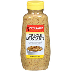 Zatarain's Creole Mustard Squeeze Bottle 12oz. - Pack of 12 Count