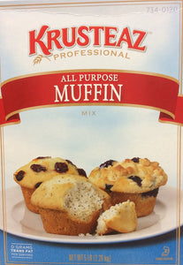 Krusteaz All Purpose Professional Muffin Mix 5lb. - Pack of 6 Count