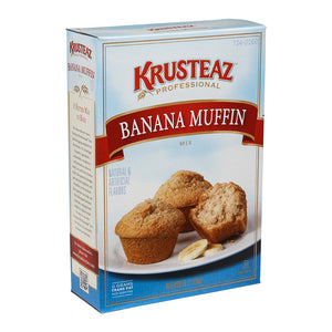 Krusteaz Professional Banana Muffin Mix 5lb. - Pack of 6 Count