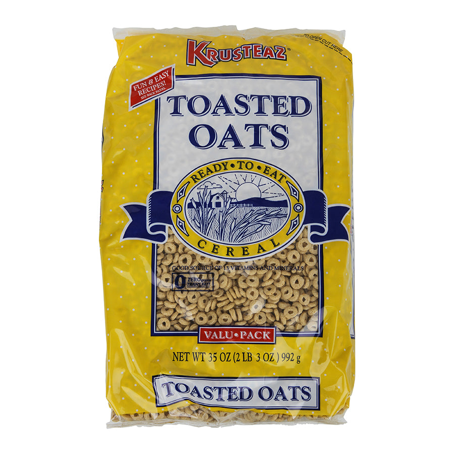 Krusteaz Toasted Oats Cereal Bulk Pack 35oz. - Pack of 8 Count