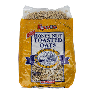 Krusteaz Toasted Oat Honey Cereal Bulk Pack 35oz. - Pack of 8 Count