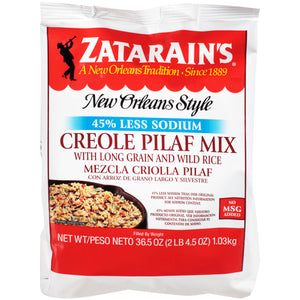 Zatarain'sReduced Sodium Creole Rice Pilaf Mix - 36.5oz - Pack of 6 Count