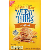 Wheat Thins Snack Crackers, Original, 9.1 Oz - Pack of 12 Count