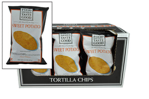 Food Should Taste Good Tortilla Chips, Sweet Potato 5.5 oz - Pack of 12 Count