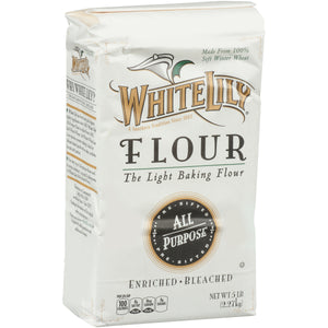 White Lily All Purpose Flour 5lb. - Pack of 8 Count