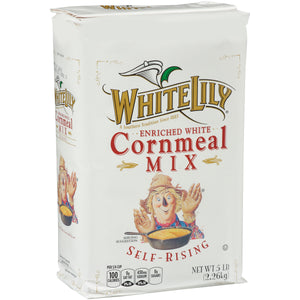 White Lily Self-Rising Corn Meal 5lb. - Pack of 8 Count
