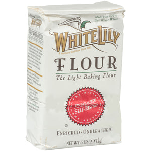 White Lily Unbleached Self-Rising Flour 5lb. - Pack of 8 Count