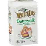 White Lily Self-Rising Buttermilk Cornmeal 5lb. - Pack of 8 Count