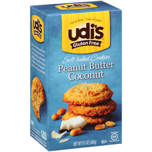 Udi's Peanut Butter Coconut Cookie - 9.1oz - Pack of 6 Count