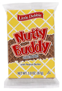 Little Debbie Vending Nutty Buddy Bar - 3oz - Pack of 72 Count