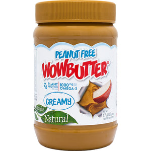 Wowbutter Peanut Free Creamy Spread Jars 1.1lb. - Pack of 6 Count