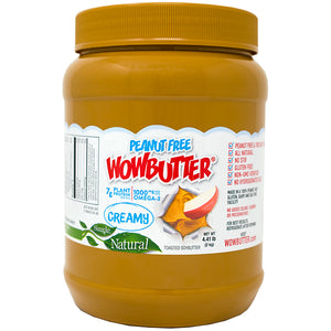 Wowbutter Peanut Free Creamy Spread Jars 4.4lb. - Pack of 2 Count