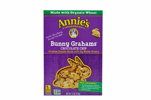Annie's Bunny Grahams, Chocolate, Graham Snacks, 7.5 oz - Pack of 12 Count