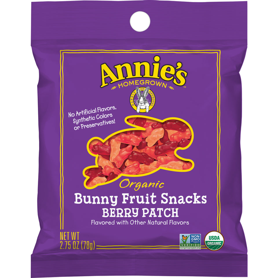 Annie's Organic Bunny Berry Patch Fruit Snacks - 2.75oz - Pack of 36 Count