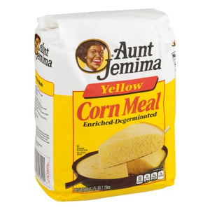 Aunt Jemima Yellow Cornmeal 5lb. - Pack of 8 Count