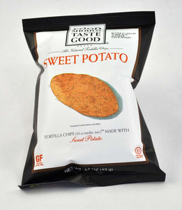 Food Should Taste Good Tortilla Chips Sweet Potato 1.5 oz - Pack of 24 Count