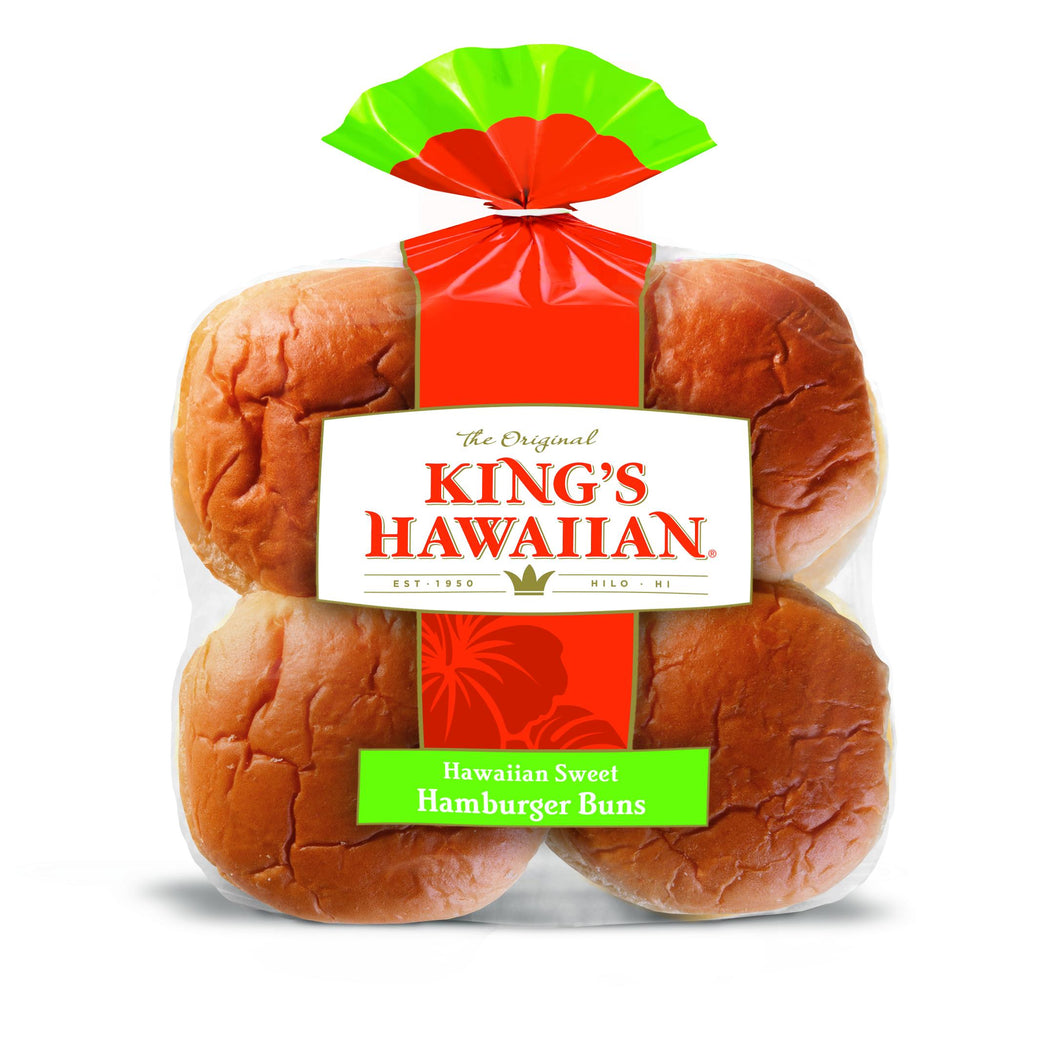 King's Hawaiian Frozen Sweet Hamburger Buns - Pack of 96 Count