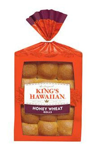 King's Hawaiian Frozen Honey Wheat Rolls - Pack of 144 Count