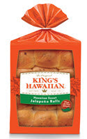 King's Hawaiian Frozen Jalapeno Rolls - Pack of 144 Count