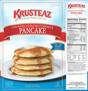 Krusteaz Country Style Buttermilk Pancake Mix 5lb. - Pack of 6 Count