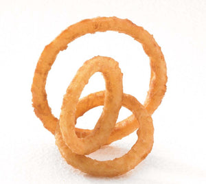 "McCain® 1/4"" Battered Frozen Onion Rings 2.75lbs - Pack of 4 Count"