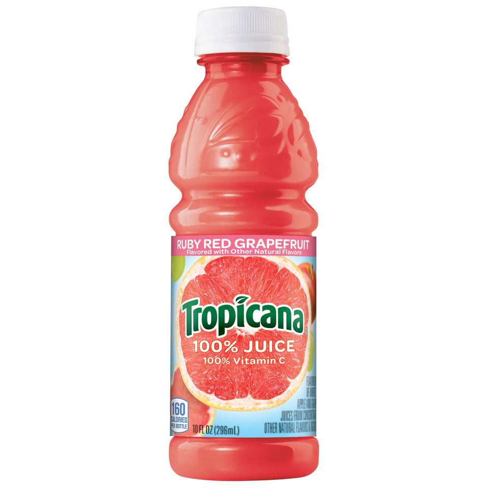 Tropicana Ruby Red Grapefruit Juice 10oz. - Pack of 24 Count