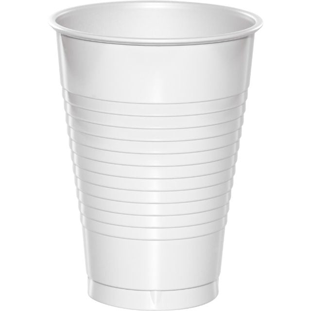 White Plastic Cups 12 oz - Pack of 240 Count