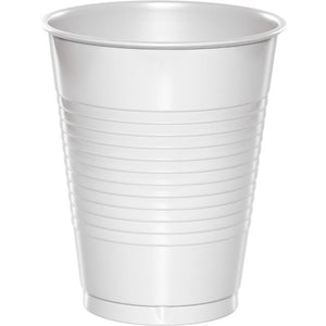 White Plastic Cups 16 oz - Pack of 240 Count