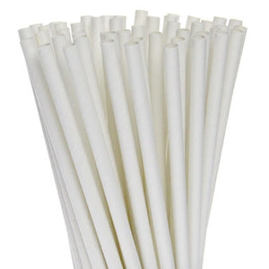 "Boardwalk White Paper Straws, Individually Wrapped, 7 3/4"" - Pack of 3200 Count"