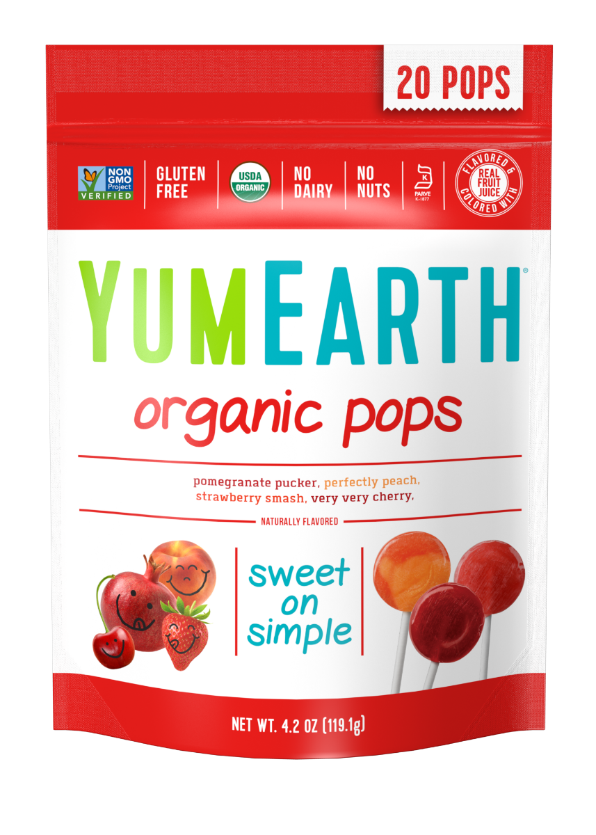 YumEarth Organic Fruit Pops 4.2oz. - Pack of 12 Count