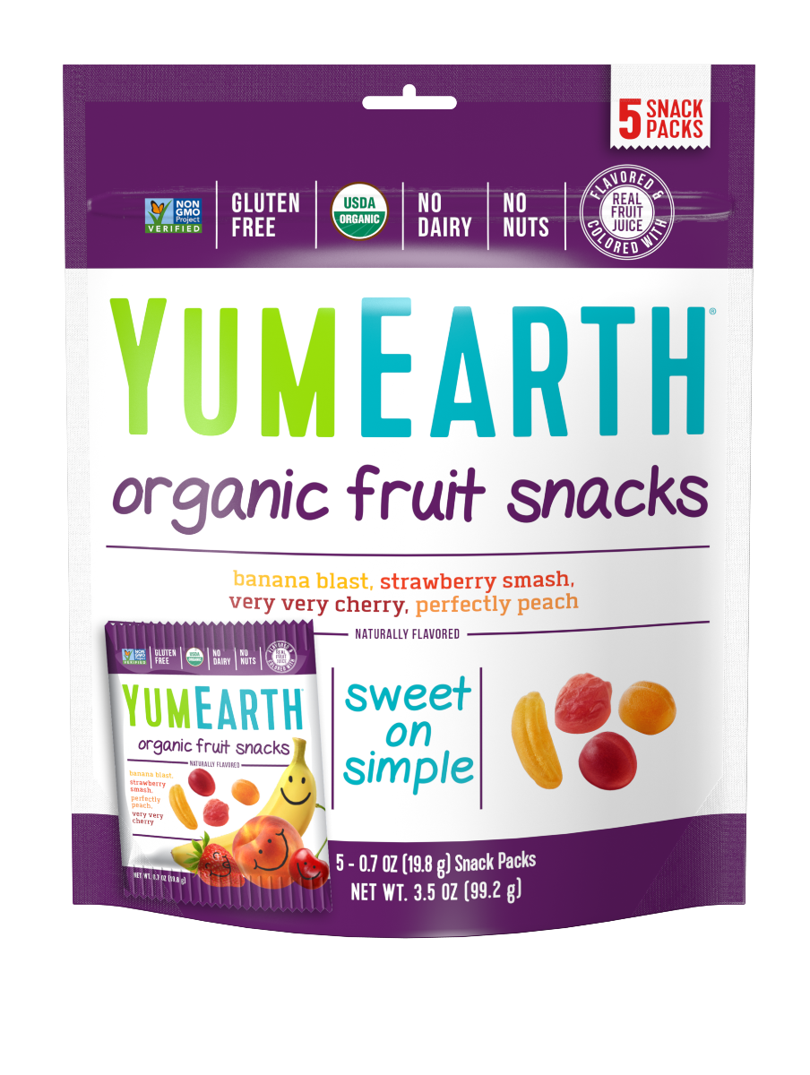 YumEarth Organic Fruit Snacks 3.5oz. - Pack of 12 Count